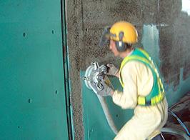 塗膜除去処理施工風景